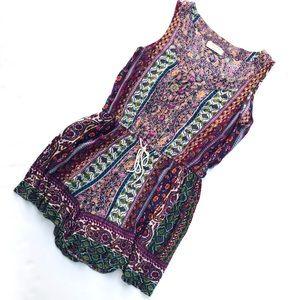 Altar'd State Boho Sleeveless Shorts romper size S